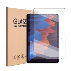 1+1 삼성 갤럭시탭S7플러스 강화유리 액정보호필름2매