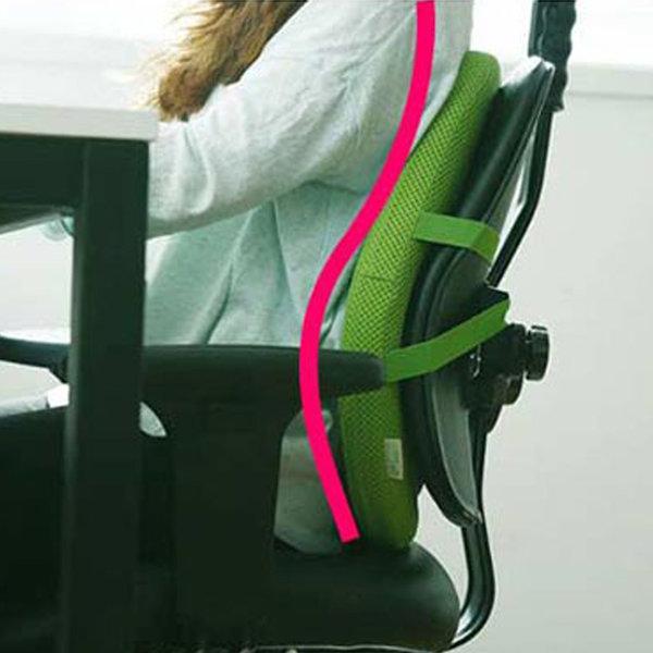 기댄휴 채워주는 쿠션 (메쉬) 의자 허리 등받이 쿠션