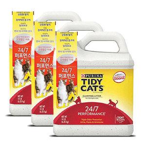 타이디캣 24/7 퍼포먼스 6.35kg 고양이모래 3개
