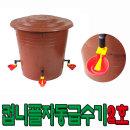 닭물통 자동컵니플급수기2호 45리터 니플 물모이통