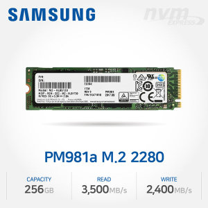 ND 삼성 NVMe SSD 256GB (PM981a) 벌크/미사용제품