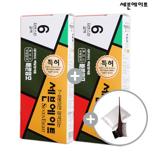 세븐에이트 새치 염색약 1+1+염색도구(6호 갈색)