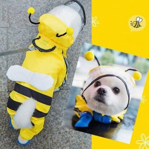 강아지우비강아지비옷 강아지레인코트 강아지꿀벌비옷