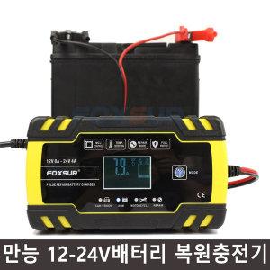 FOXSUR 만능12-24V자동차 오토바이 배터리 복원충전기
