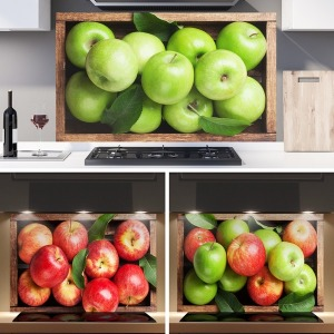 워너비아트 주방아트보드 금전운 사과그림(3종)