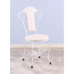 토브리빙 쿠션 의자 화장대의자 튼튼한 철재 의자 1EA
