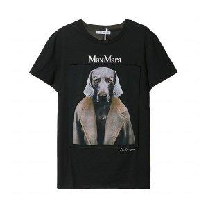 막스마라  도그 인 코트 코튼 저지 티셔츠 ABETALIA 004