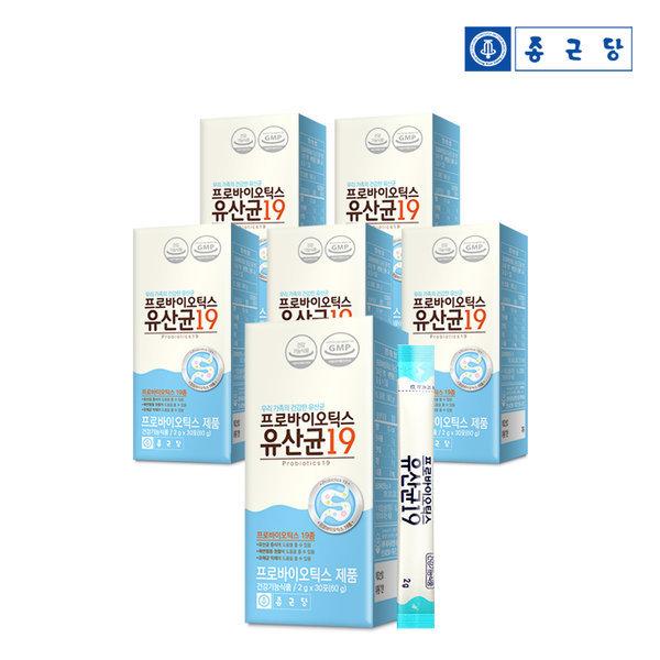 종근당 프로바이오틱스 유산균 19  30포 6박스(6개월)