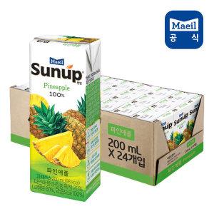 썬업 100% 파인애플 200ml 24팩/쥬스/주스/과즙/음료