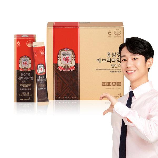 홍삼정 에브리타임 밸런스 10mlx30포 + 3포(쇼핑백증정)/ 정관장.