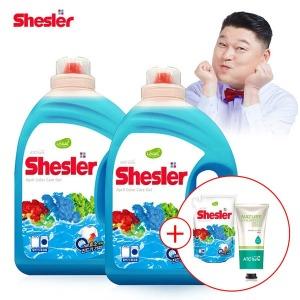 강호동의 쉬슬러 고농축 세탁세제 (3.05L 2개) +증정