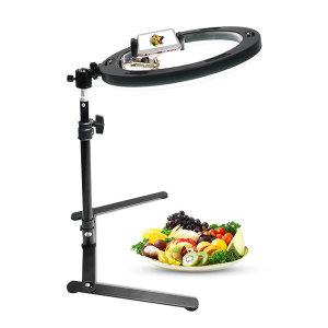 (다운-샷) 조명+거치대 세트 sns LED 상품촬영 DS910