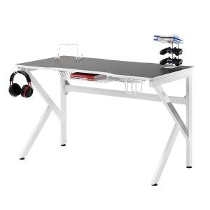 1인용 게이밍 컴퓨터 책상 GD001 1200 화이트 데스크
