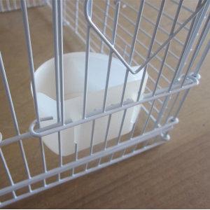 재고정리-반달급식기 소 / 흰색(조류용밥그릇.물그릇)