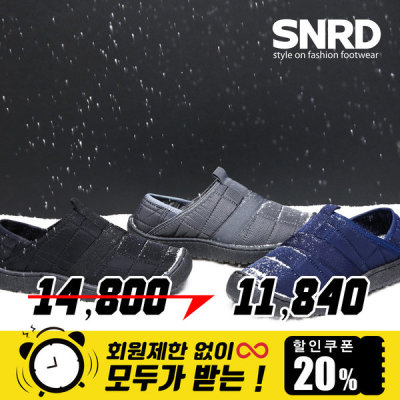 [페이퍼플레인] SNRD 기모 패딩 뮬 슬립온 겨울 패딩슬립온 SN565