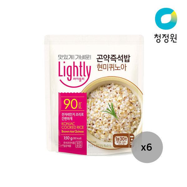 라이틀리 곤약즉석밥 현미퀴노아 150g 6개