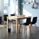 캘빈내츄럴 위드 4인용 대리석 식탁 세트/4인 의자형
