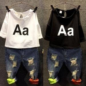 영문a라인티/여아티셔츠/캐쥬얼티셔츠/아동티셔츠