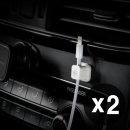 1+1 마그네틱 케이블 정리 홀더 단선방지 차량용