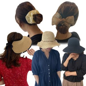 여름 모자 밀짚 버킷 햇 썬캡 곱창 벙거지 집게핀