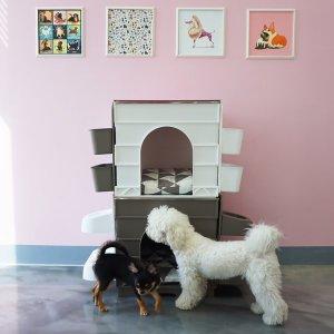 스마트 큐브펫 강아지집 (식기세트+스토리지)