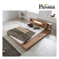 파로마  에반 LED 저상형 침대/수납형  퀸(Q)_프레임만(착불)