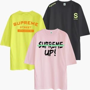 여름 반팔티 티셔츠 오버핏 남자여자 면 반바지 S~5XL