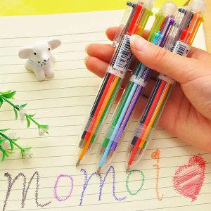 6색 컬러볼펜 볼펜 색깔볼펜 사무 문구 오피스용품