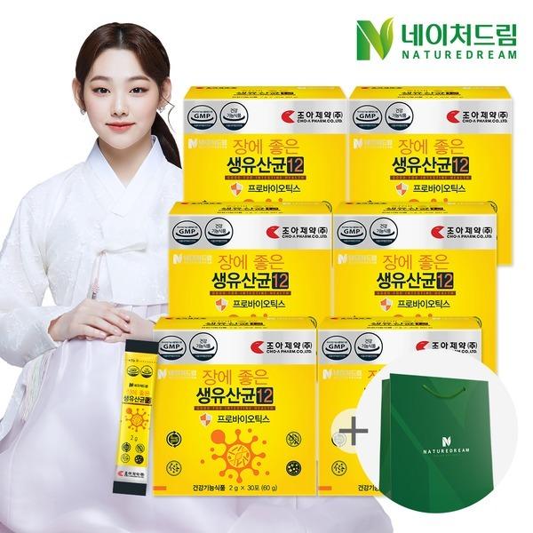 장에 좋은 생유산균12 30포 6박스/장건강/추석선물