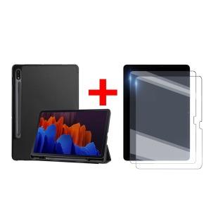 2+1 갤럭시탭S7/S7플러스 북커버케이스+강화유리필름