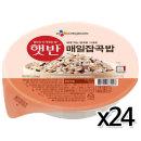 CJ 햇반 매일잡곡밥 210gx24개 / 즉석밥 전자렌지밥
