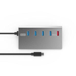 C타입 유전원 4포트 USB허브 USB확장 키보드 태블릿