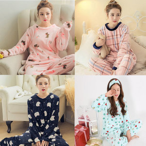 KJG 수면잠옷세트/밍크/극세사/여성/겨울/커플/캐릭터