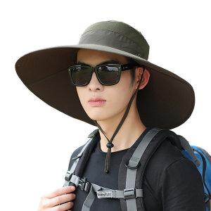 큰챙 벙거지모자/햇빛가리개 등산모자/정글 낚시 캠핑