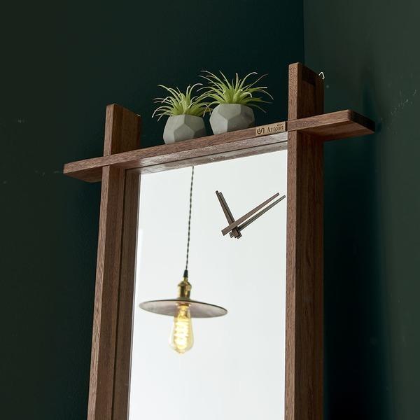 벨르 시계거울 12종 원목전신거울 집들이 개업선물