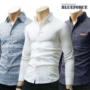 가을신상 남방/남자옷/솔리드무지 모직 스판셔츠