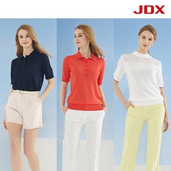 JDX  NEW 여성 반팔 썸머스웨터 폴로티 3종세트 XFY
