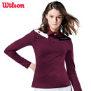 윌슨 여성 긴팔티셔츠 4606 와인 카라티셔츠 단체복