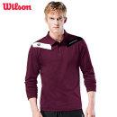 윌슨 남성 긴팔티셔츠 4605 와인 카라티셔츠 단체복