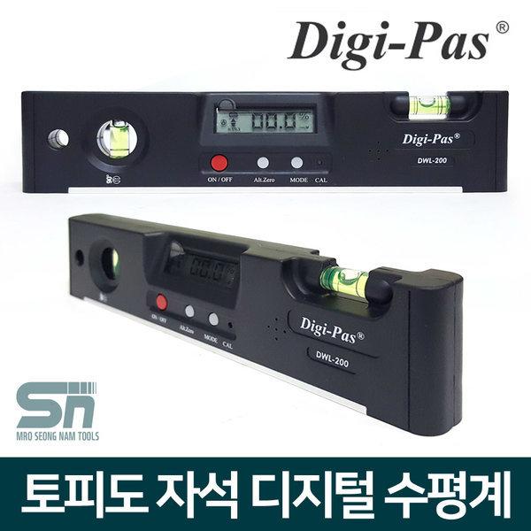 DigiPas DWL-200 디지털 자석 수평계 수평기 경사계