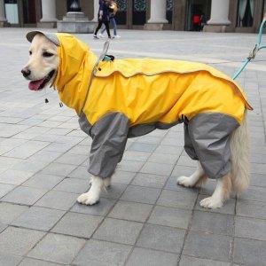 큰 강아지 대형경 비옷 중형 개 애완 동물 레인코트