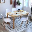 캘빈 윌리 4인 대리석 식탁세트 (의자형)