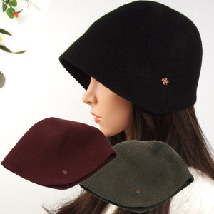 4356-CAW클로버보넷 모자 여성 니트 겨울 보닛 벙거지