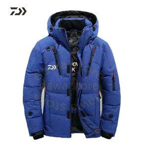 Daiwa 자켓 남자의 벨벳 낚시 의류 두꺼운 열 코트