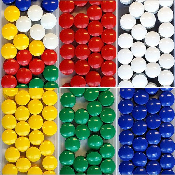 칼라원형자석 소 /노랑 빨강 초록 파랑 흰색 혼합