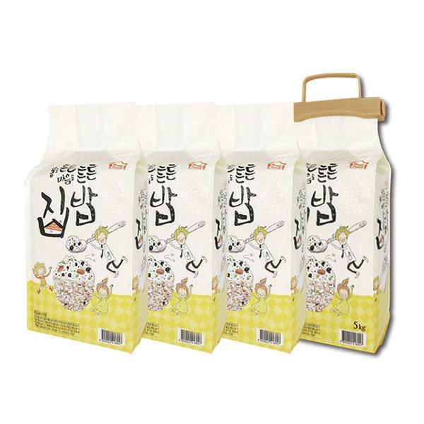 집밥 20곡담은쌀20kg 2020년햅쌀(5kgx4봉)