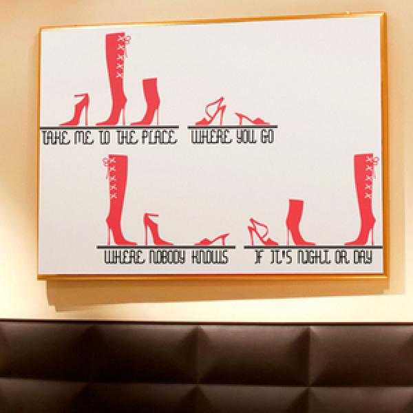 슈즈 (반제품C) 그래픽스티커 패션 구두 포인트