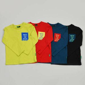 (현대백화점)베네통키즈 포켓티셔츠 QATS04041 RDYETQBK 아동 남아 여아 공용 얇은 긴팔 딜