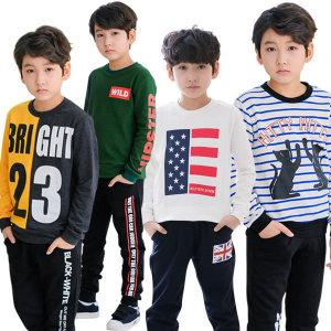 주니어 초등학생 남아 가을 맨투맨 면티 티셔츠 옷