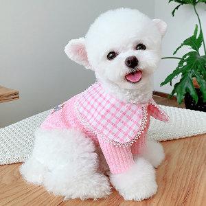 베이비도그 체크넥케이프티 강아지옷/애견옷